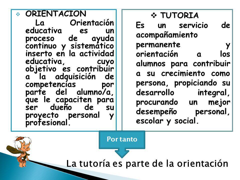 ORIENTACION La Orientación educativa es un proceso de ayuda continuo y sistemático inserto en la actividad educativa, cuyo objetivo es contribuir a la adquisición de competencias por parte del alumno/a, que le capaciten para ser dueño de su proyecto personal y profesional.