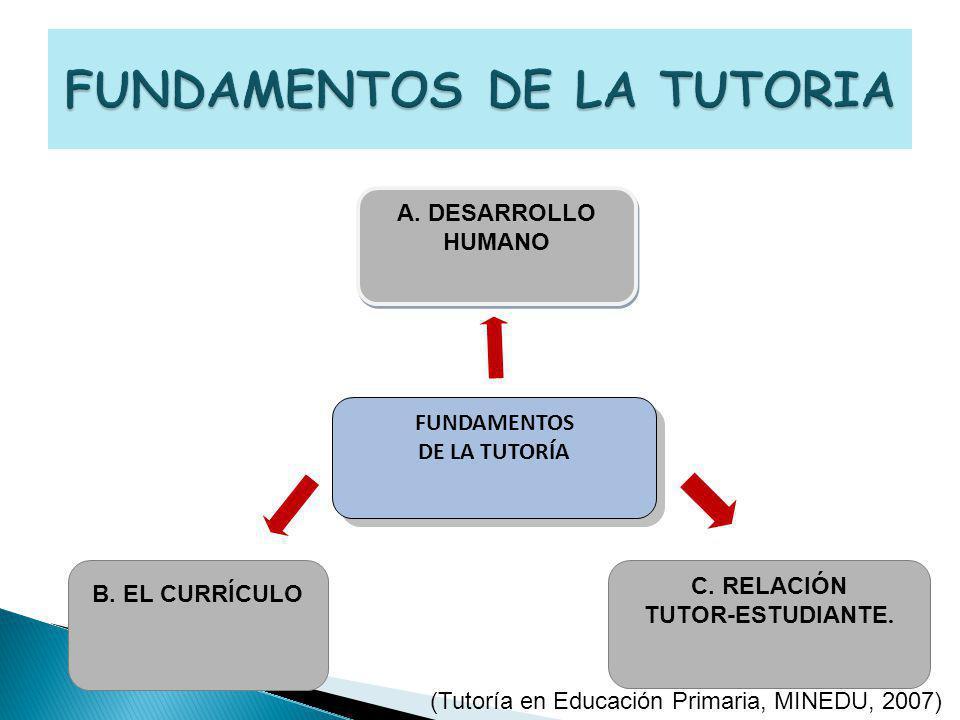 A.DESARROLLO HUMANO A. DESARROLLO HUMANO B. EL CURRÍCULO C.