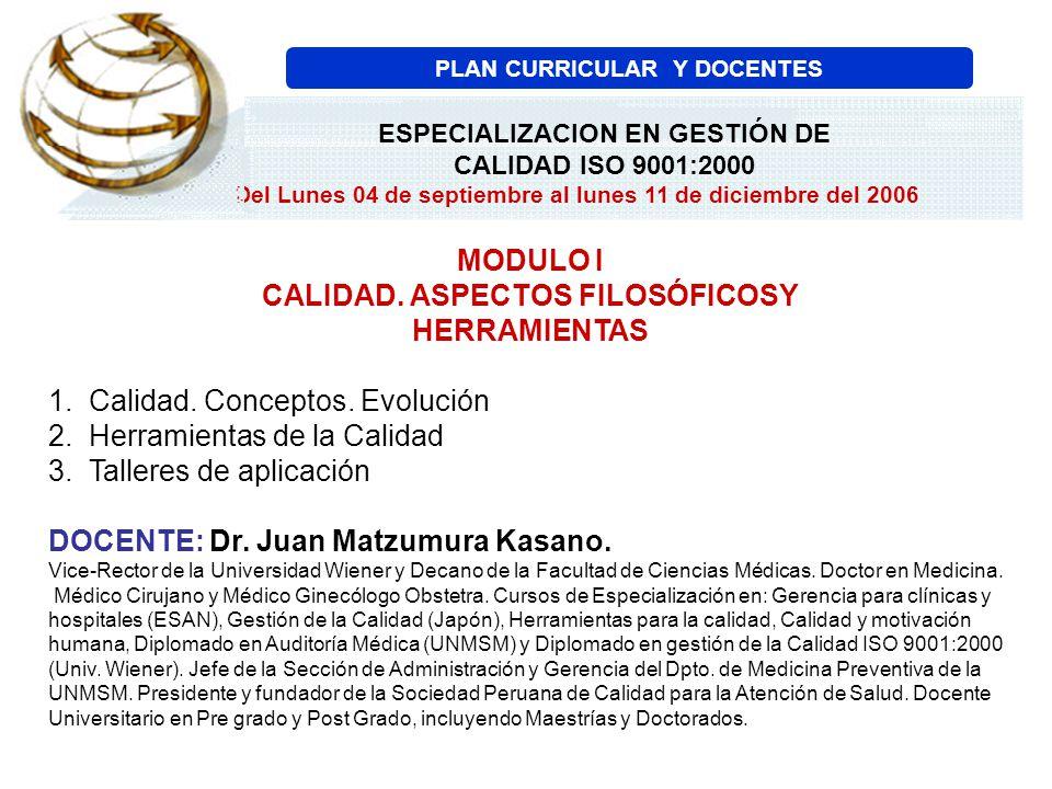 MODULO II EL SISTEMA INTEGRADO DE LA CALIDAD, EL RECONOCIMIENTO DE LOS CERTIFICADOS E INTERPRETACIÓN DE LOS REQUISITOS DE LA NORMA ISO 9001:2000 1.