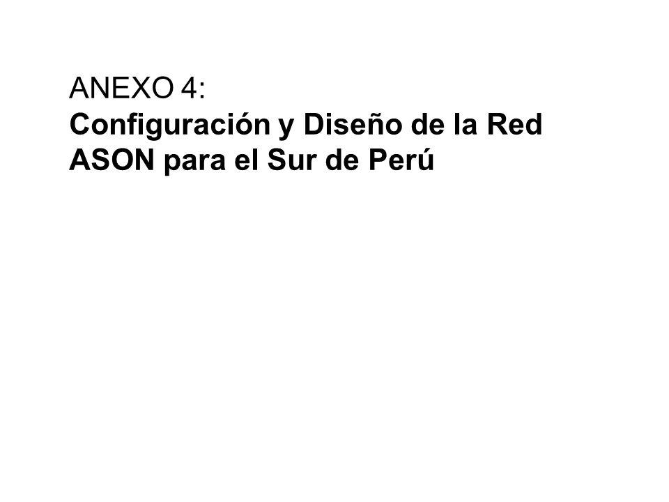 ANEXO 4: Configuración y Diseño de la Red ASON para el Sur de Perú