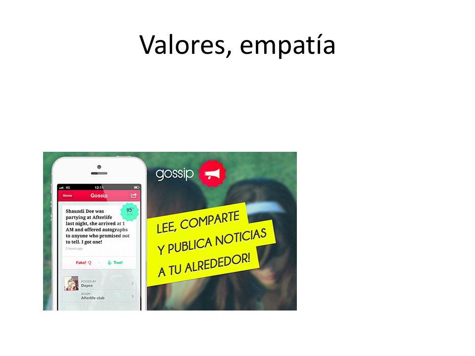 Valores, empatía