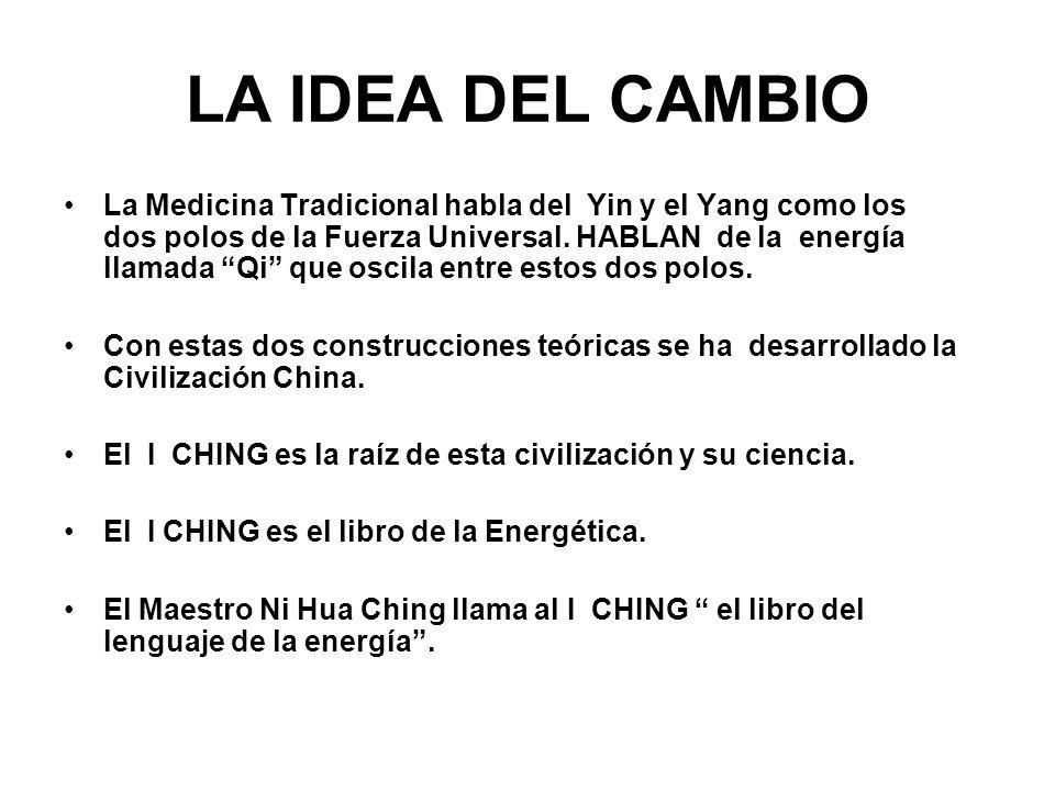 La Medicina Tradicional habla del Yin y el Yang como los dos polos de la Fuerza Universal. HABLAN de la energía llamada Qi que oscila entre estos dos