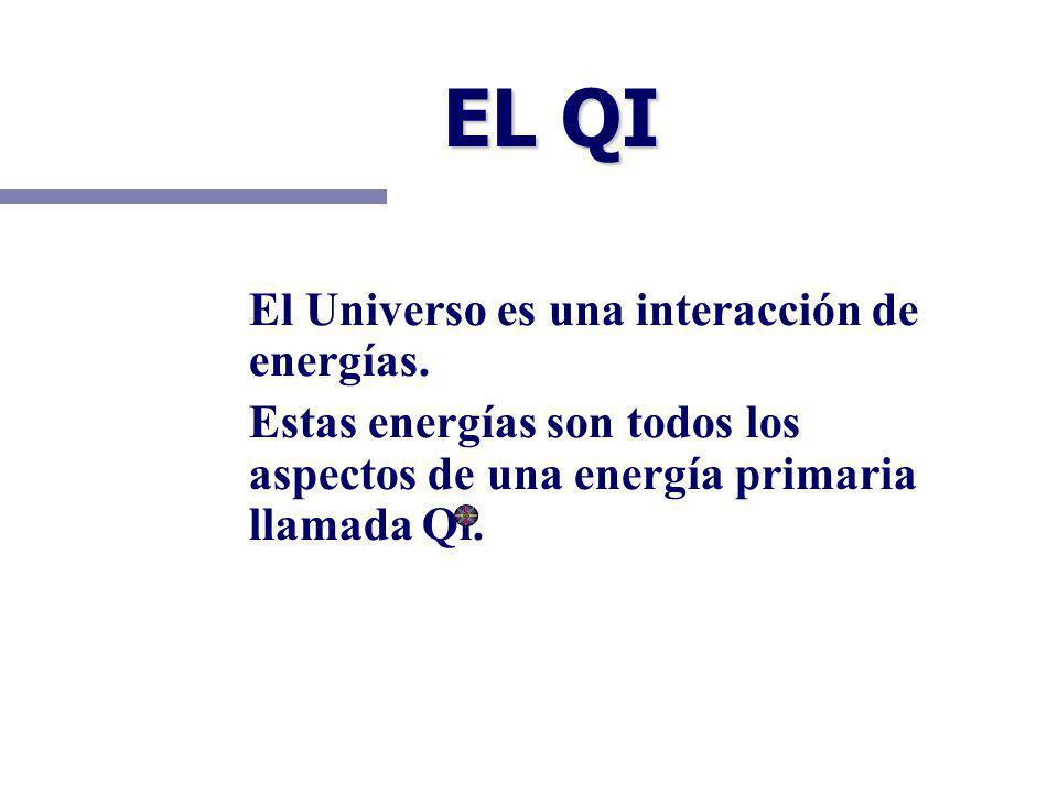 EL QI El Universo es una interacción de energías. Estas energías son todos los aspectos de una energía primaria llamada Qi.
