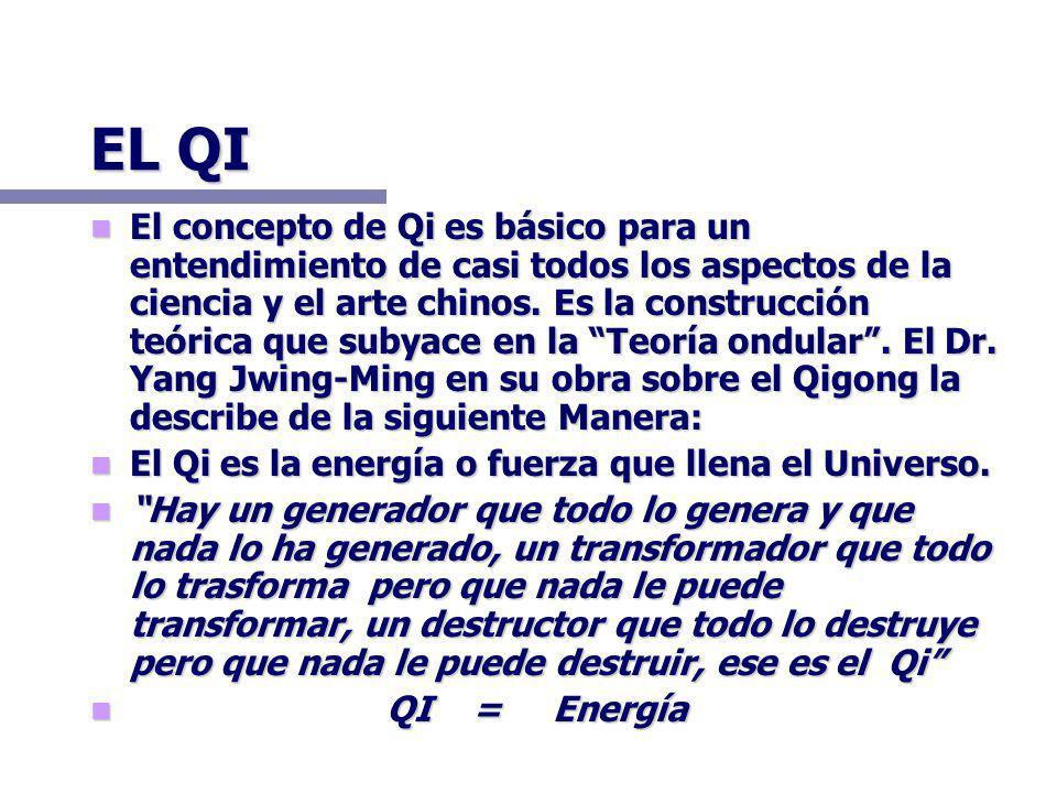EL QI El concepto de Qi es básico para un entendimiento de casi todos los aspectos de la ciencia y el arte chinos.