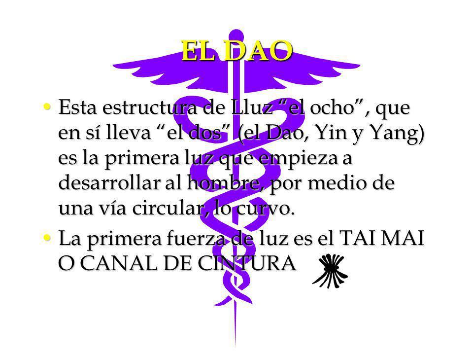 EL DAO Esta estructura de Lluz el ocho, que en sí lleva el dos (el Dao, Yin y Yang) es la primera luz que empieza a desarrollar al hombre, por medio d