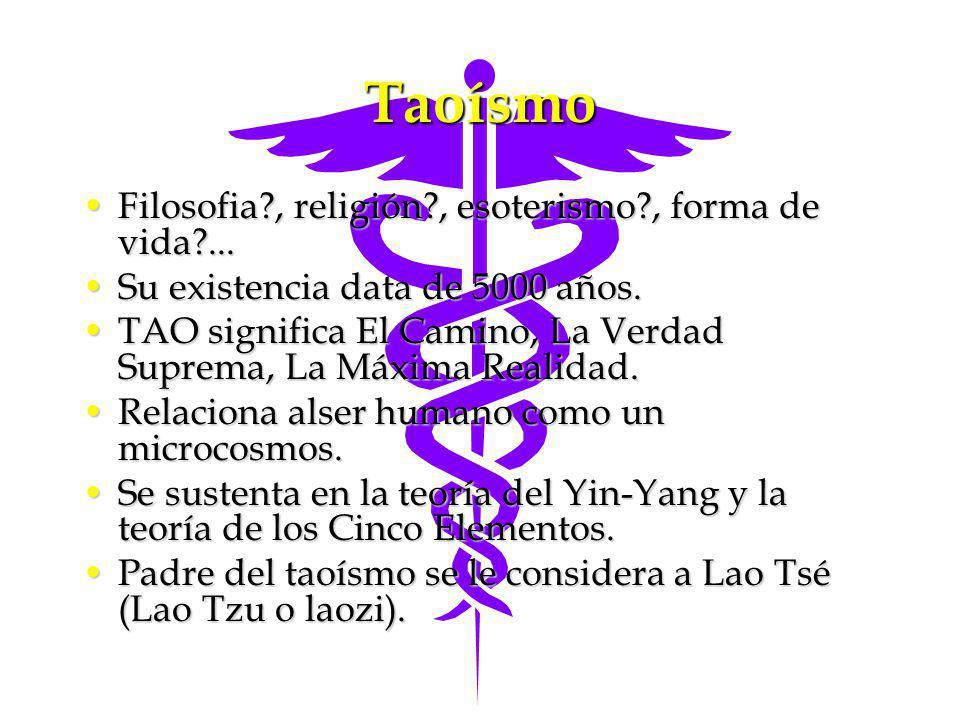 Taoísmo Filosofia?, religión?, esoterismo?, forma de vida?...Filosofia?, religión?, esoterismo?, forma de vida?... Su existencia data de 5000 años.Su
