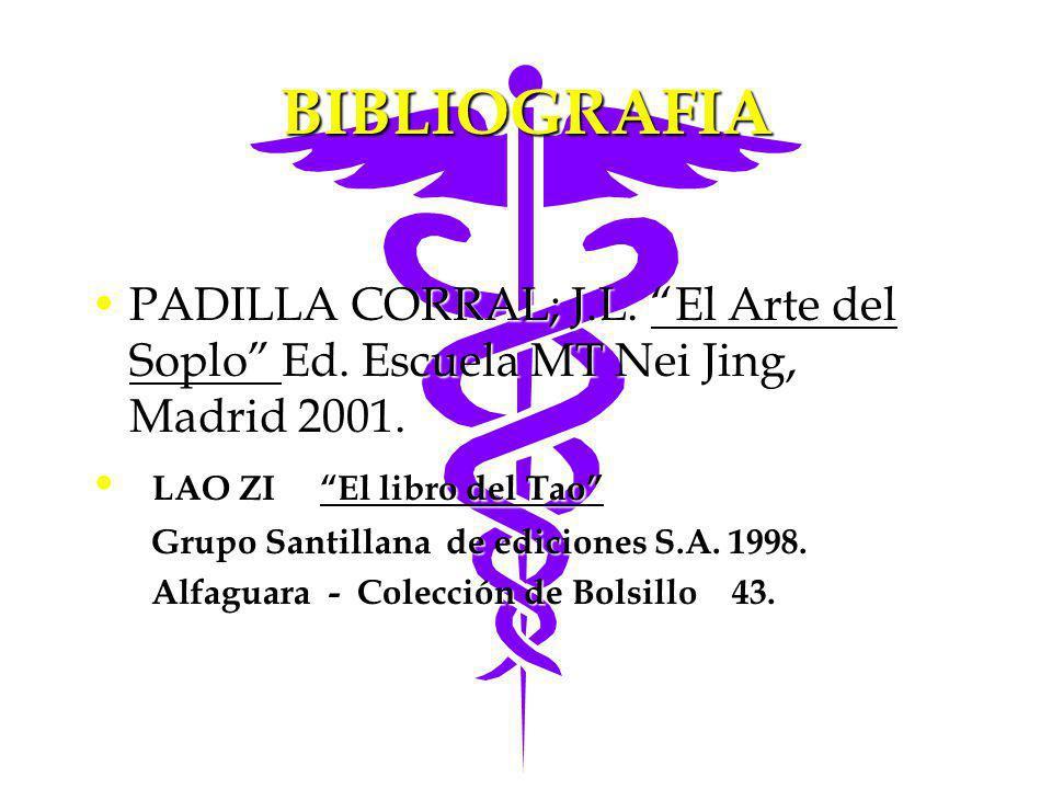 BIBLIOGRAFIA PADILLA CORRAL; J.L. El Arte del Soplo Ed. Escuela MT Nei Jing, Madrid 2001.PADILLA CORRAL; J.L. El Arte del Soplo Ed. Escuela MT Nei Jin