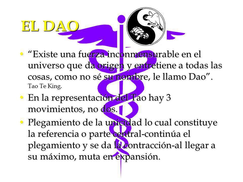 EL DAO Existe una fuerza inconmensurable en el universo que da origen y entretiene a todas las cosas, como no sé su nombre, le llamo Dao. Tao Te King.
