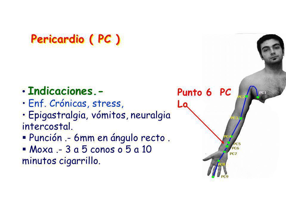 Indicaciones.- Enf.Crónicas, stress, Epigastralgia, vómitos, neuralgia intercostal.