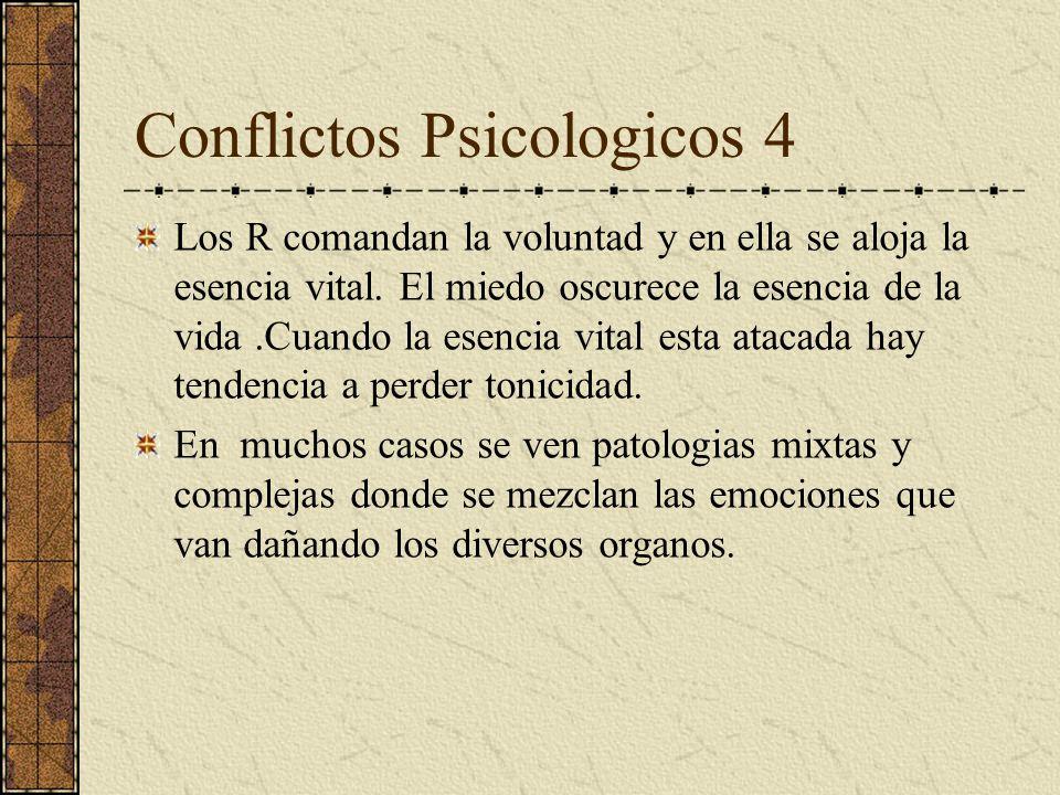 Conflictos Psicologicos 3 El C rige las arterias y en ellas se aloja el espiritu. Demasiados pesares dañan el espiritu Cuando hay vacio el enfermo gim
