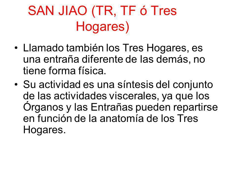 SAN JIAO (TR, TF ó Tres Hogares) Llamado también los Tres Hogares, es una entraña diferente de las demás, no tiene forma física. Su actividad es una s