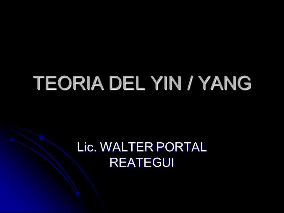 TEORIA DEL YIN / YANG Lic. WALTER PORTAL REATEGUI