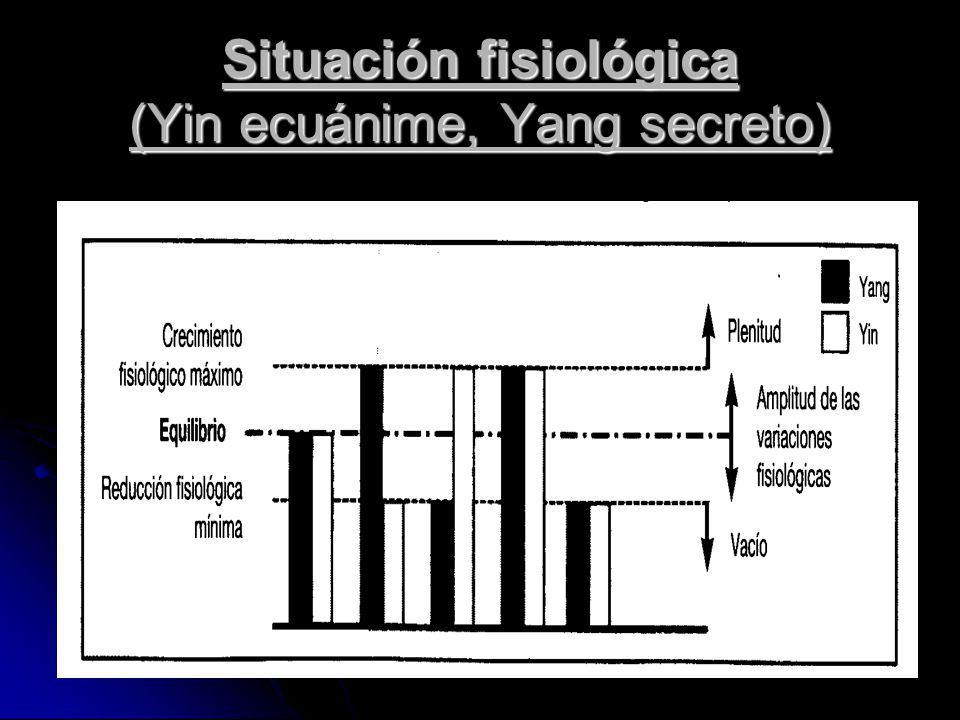 Situación fisiológica (Yin ecuánime, Yang secreto)