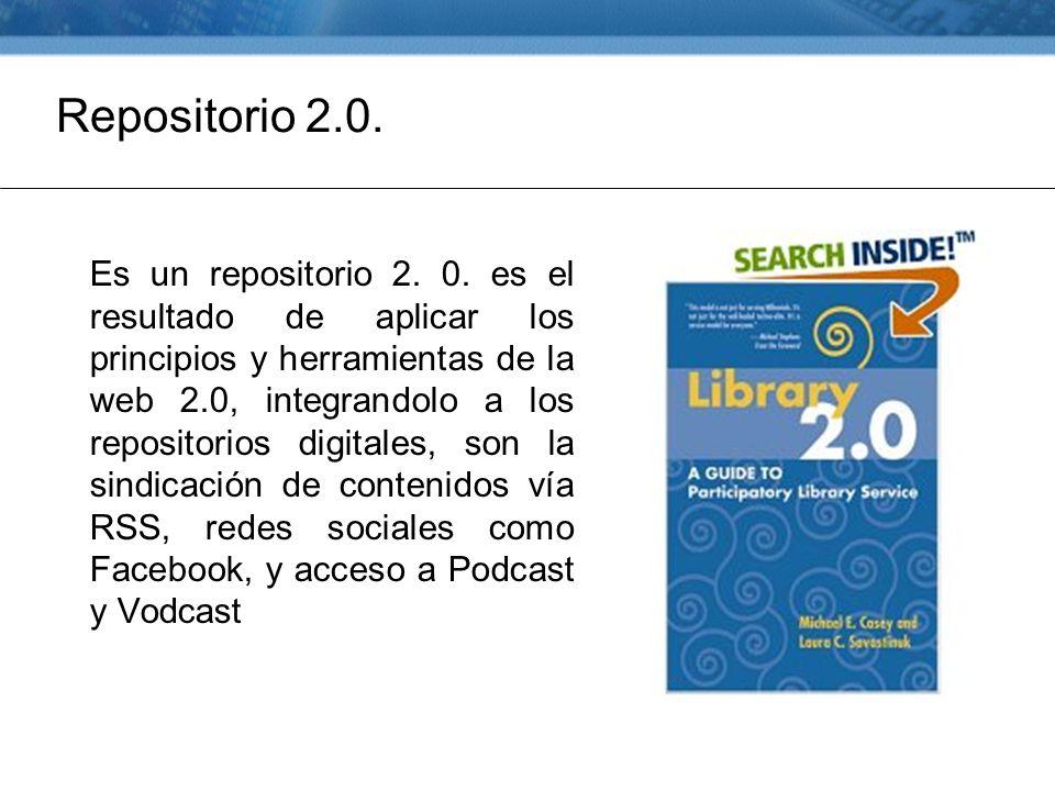 Repositorio 2.0. Es un repositorio 2. 0.
