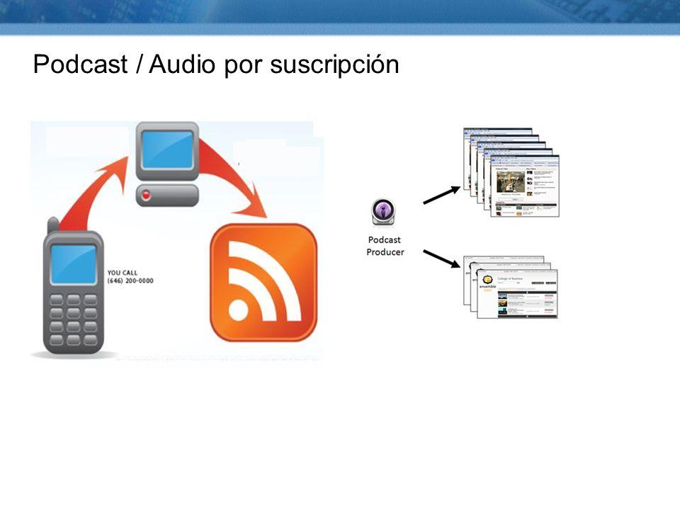 Podcast / Audio por suscripción