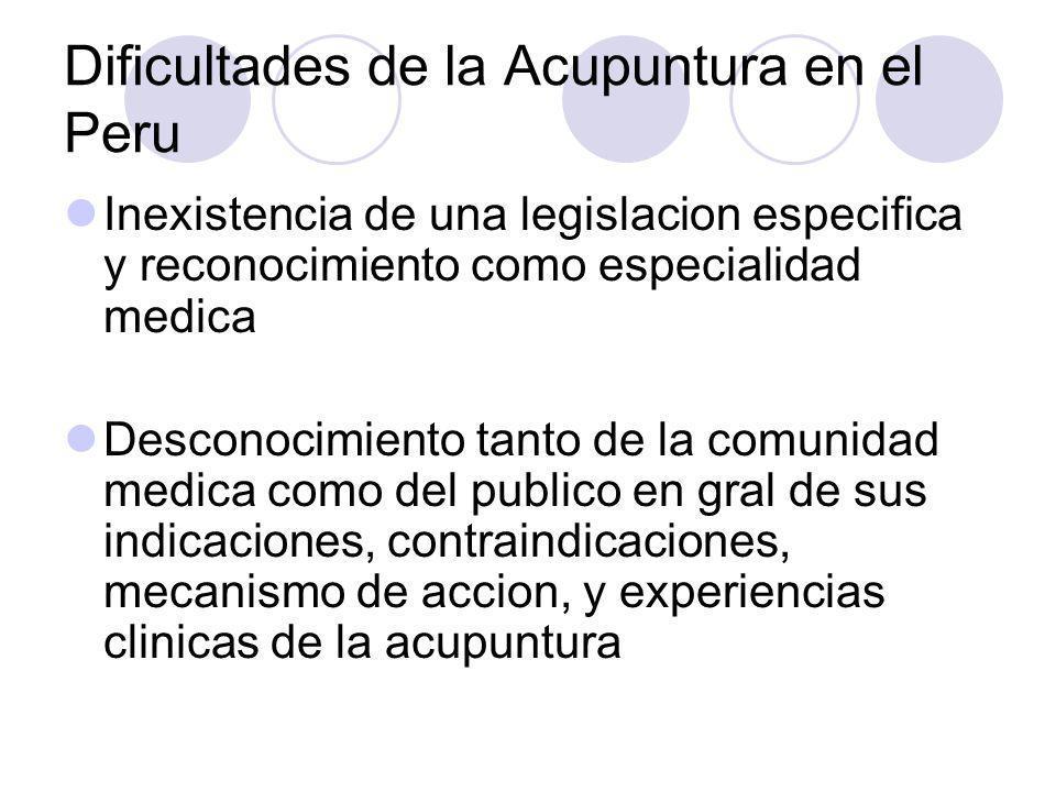 Acupuntura en el Peru Desde setiembre del 2003 a mayo del 2004 Diplomado de Acupuntura con la UPE (Universidad de los Pueblos de Europa), con sede en