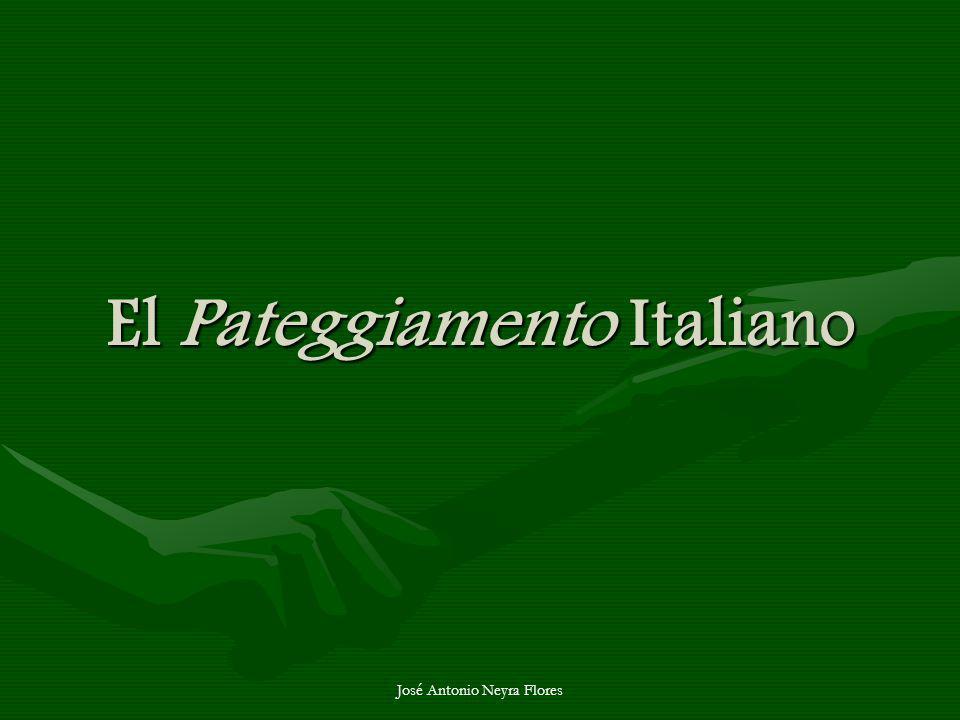 José Antonio Neyra Flores El Pateggiamento Italiano