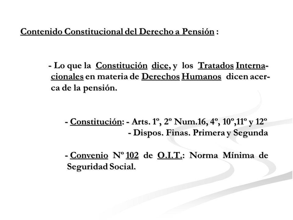 Gráfico de Estructura de Derecho a Pensión - Acceso a Pensión - No Privación Arbitraria de Pen.
