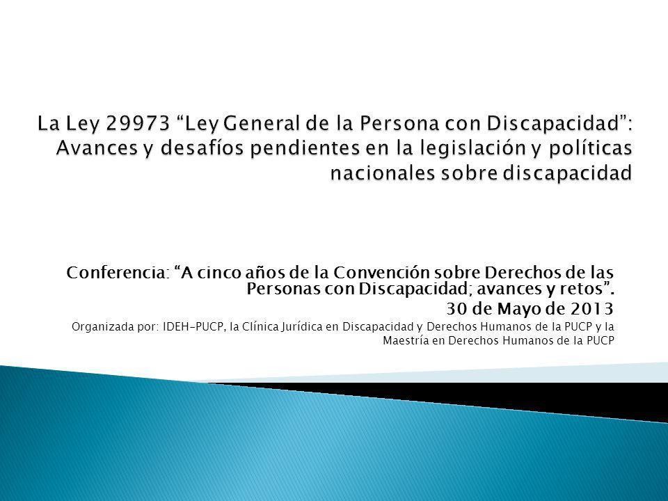 Conferencia: A cinco años de la Convención sobre Derechos de las Personas con Discapacidad; avances y retos.