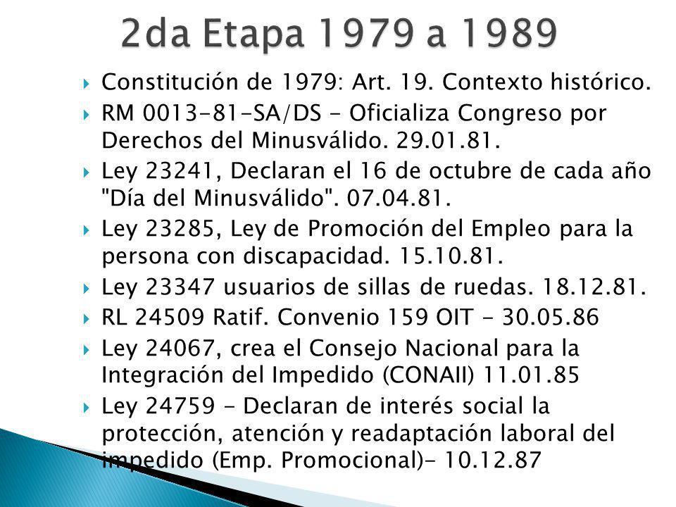 Constitución de 1979: Art. 19. Contexto histórico.