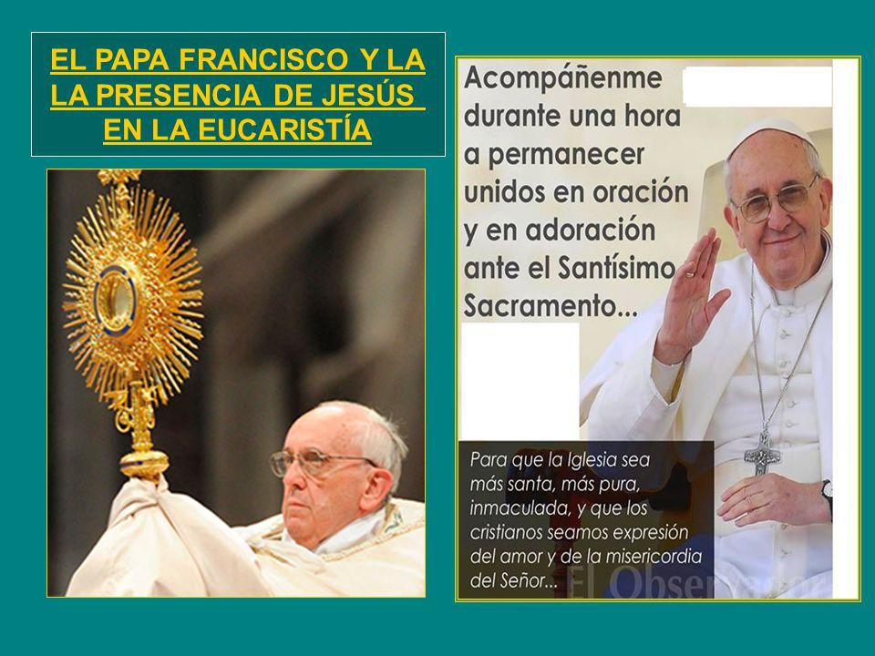 EL PAPA FRANCISCO Y LA LA PRESENCIA DE JESÚS EN LA EUCARISTÍA