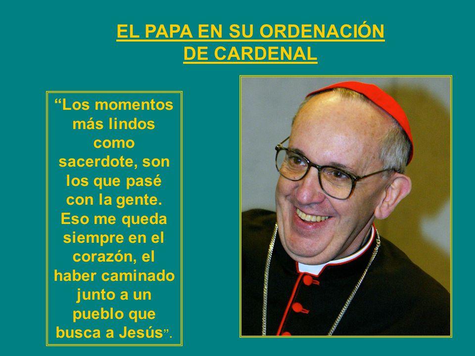 EL CARDENAL JORGE BERGOGLIO ELEGIDO PAPA Y TOMA EL NOMBRE FRANCISCO PAPA DE LA HUMILDAD Y LA FIRMEZA
