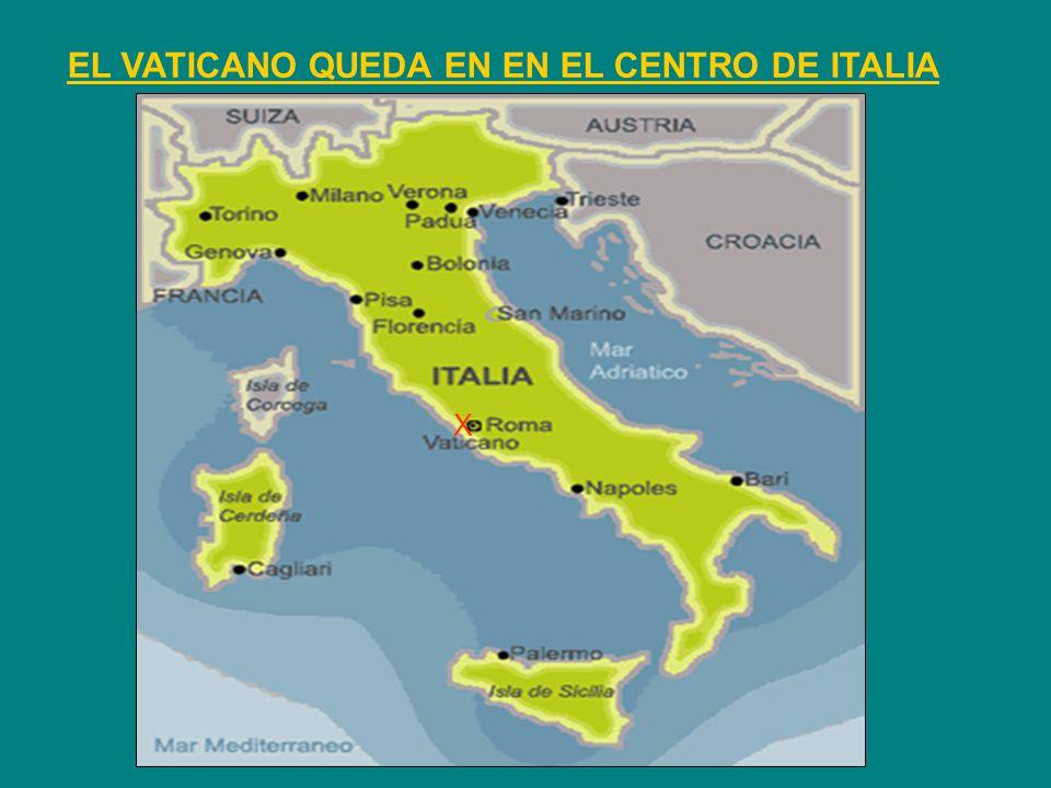 EL VATICANO QUEDA EN EN EL CENTRO DE ITALIA X