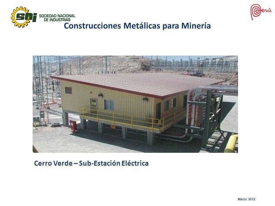 Marzo 2012 Cerro Verde – Sub-Estación Eléctrica Construcciones Metálicas para Minería
