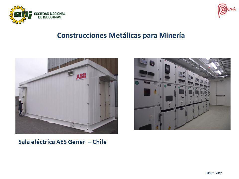 Marzo 2012 Sala eléctrica AES Gener – Chile Construcciones Metálicas para Minería