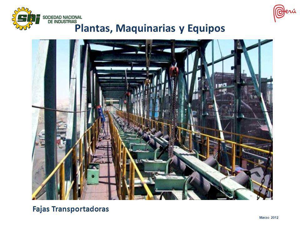 Marzo 2012 Fajas Transportadoras Plantas, Maquinarias y Equipos