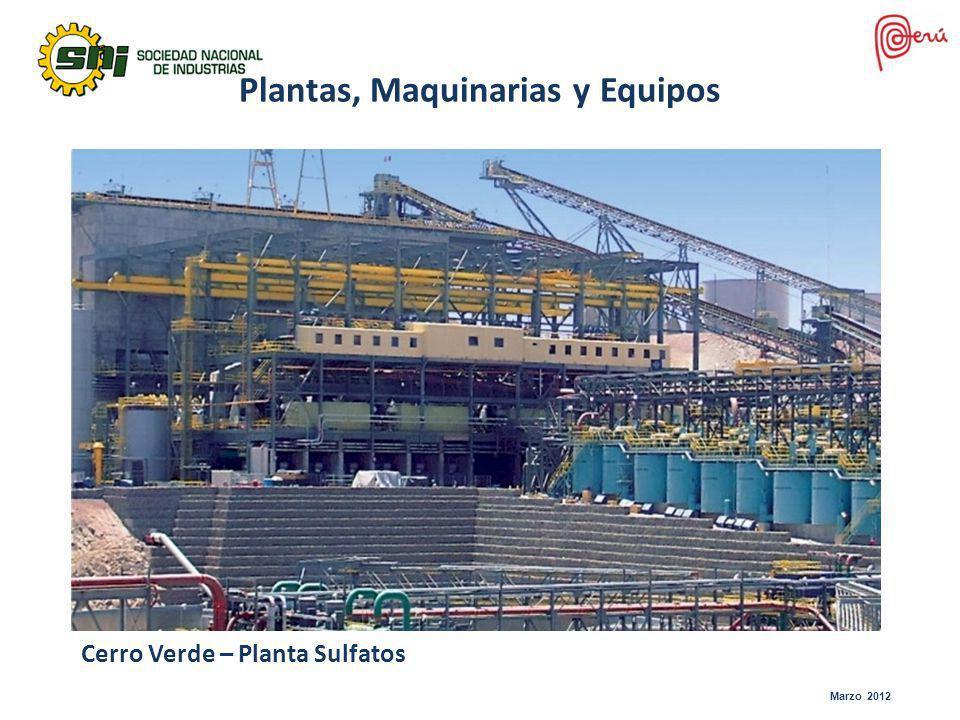 Marzo 2012 Cerro Verde – Planta Sulfatos Plantas, Maquinarias y Equipos