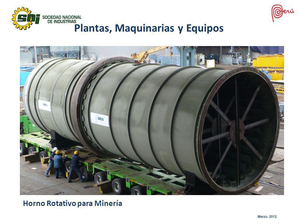 Marzo 2012 Horno Rotativo para Minería Plantas, Maquinarias y Equipos