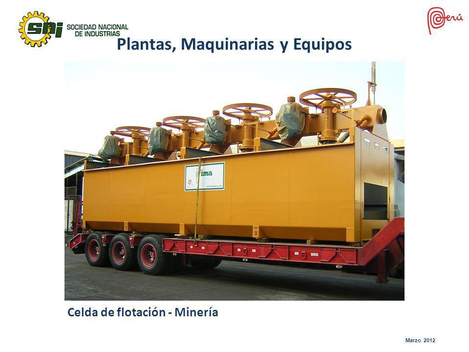 Celda de flotación - Minería Plantas, Maquinarias y Equipos