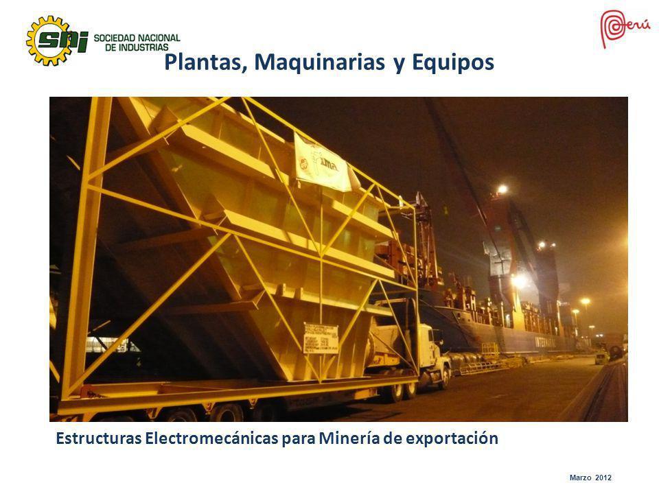 Marzo 2012 Plantas, Maquinarias y Equipos Estructuras Electromecánicas para Minería de exportación