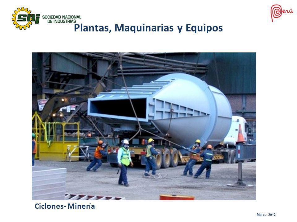 Marzo 2012 Ciclones- Minería Plantas, Maquinarias y Equipos
