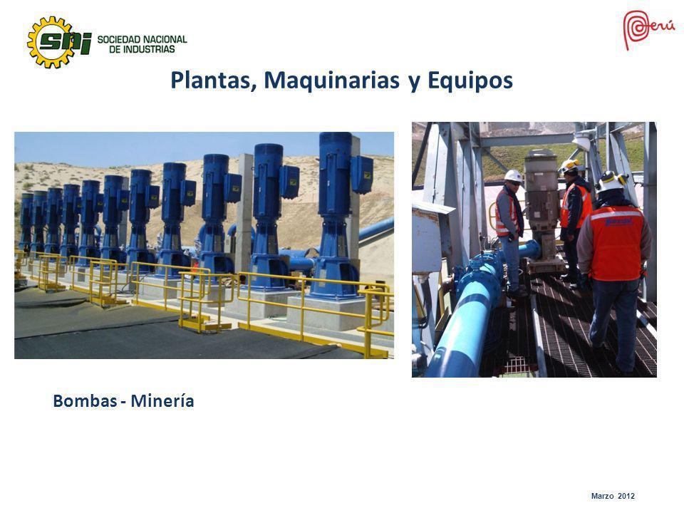 Marzo 2012 Bombas - Minería Plantas, Maquinarias y Equipos
