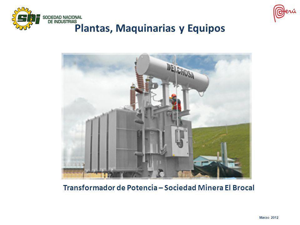 Plantas, Maquinarias y Equipos Transformador de Potencia – Sociedad Minera El Brocal