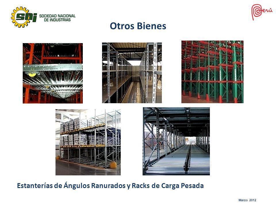 Marzo 2012 Otros Bienes Estanterías de Ángulos Ranurados y Racks de Carga Pesada