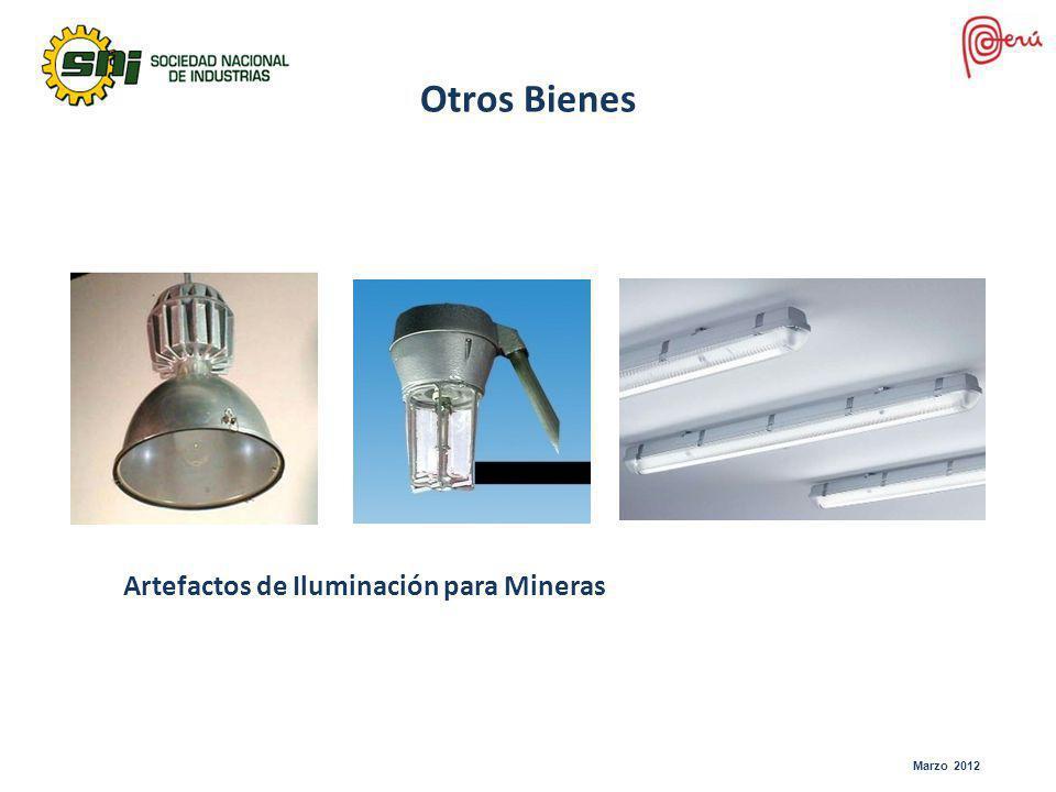 Marzo 2012 Otros Bienes Artefactos de Iluminación para Mineras