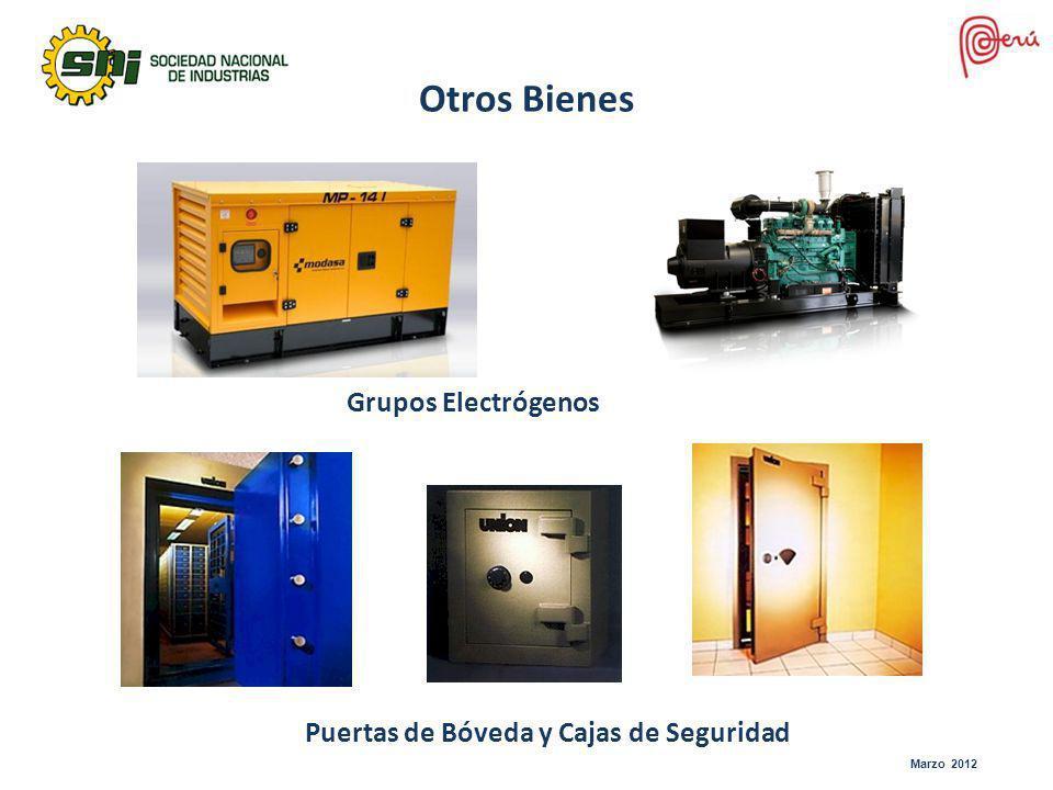 Marzo 2012 Otros Bienes Grupos Electrógenos Puertas de Bóveda y Cajas de Seguridad