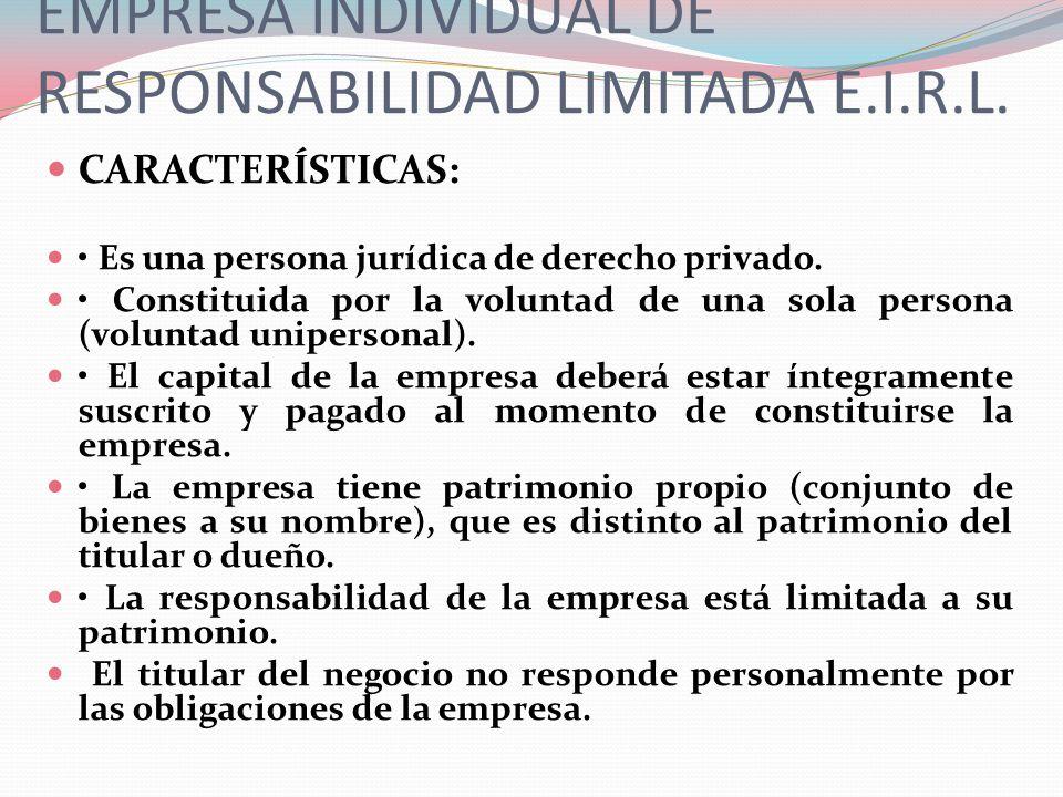 CARACTERÍSTICAS: El titular será solidariamente responsable con el gerente de los actos infractorios de la ley practicados por su gerente.