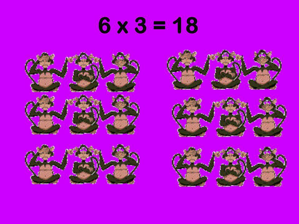 6 grupos de 3