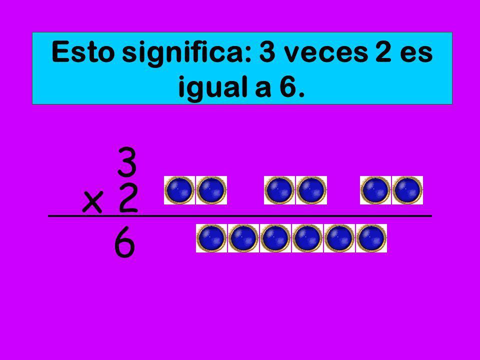 En vez de sumar tres veces el mismo número, podemos multiplicar. x 2 3 6