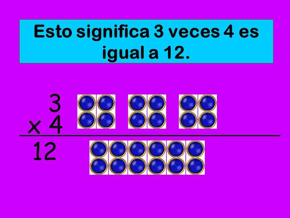 Esto significa: 2 veces 3 es igual a 6. x 3 2 6