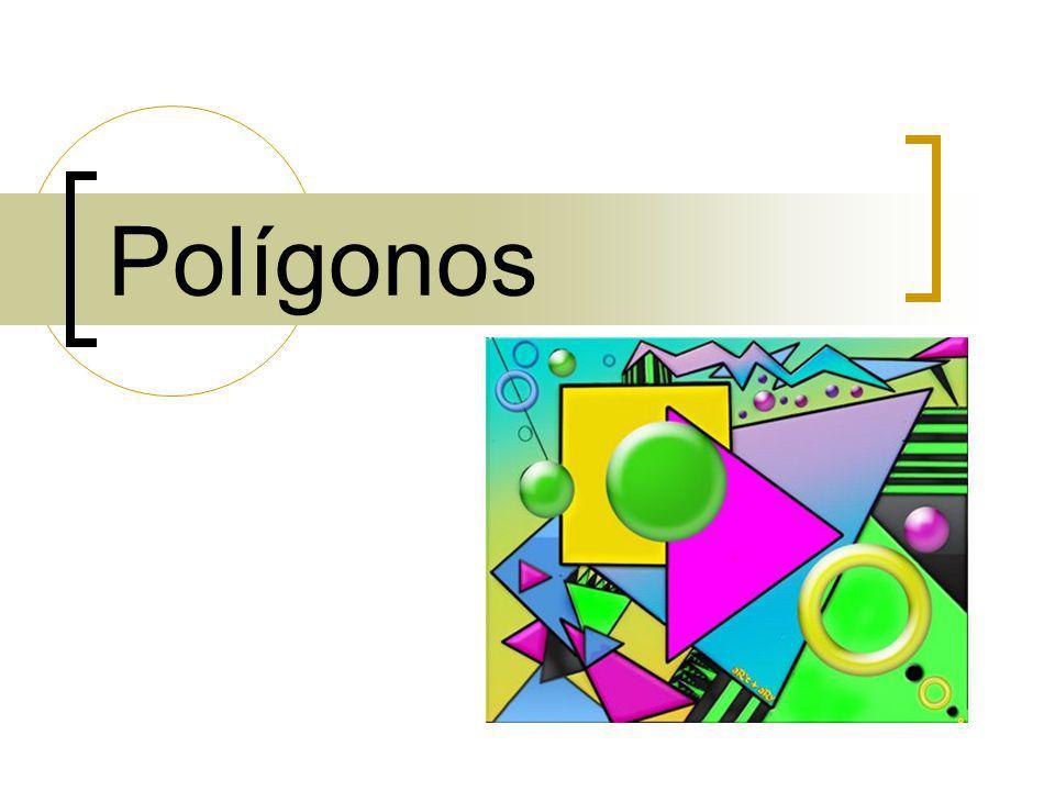 Las figuras geométricas planas formadas por líneas poligonales cerradas se llaman polígonos.