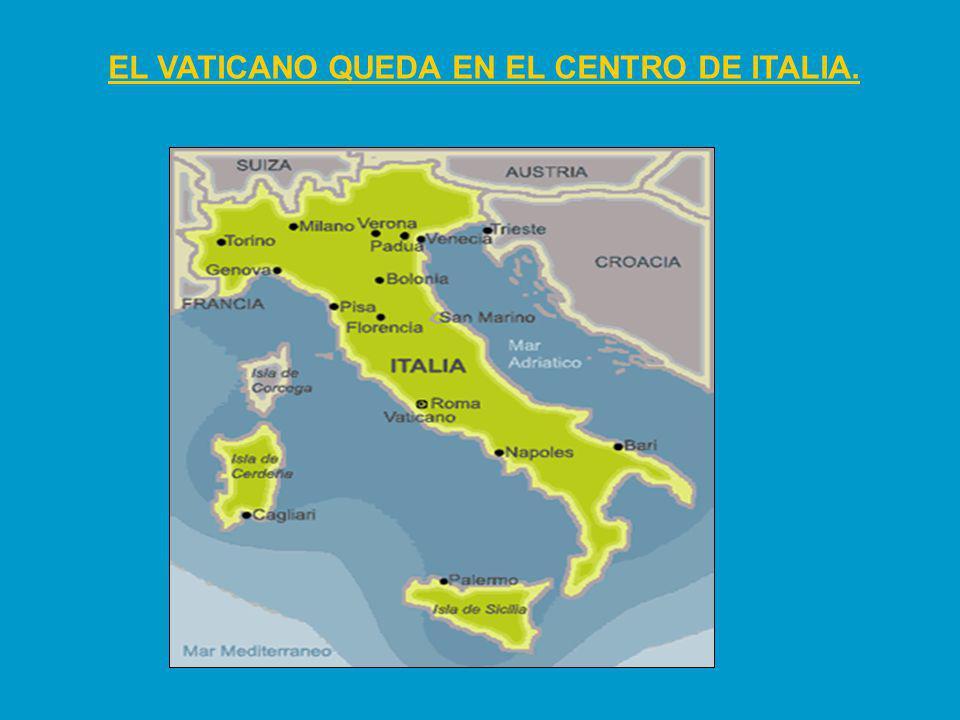 EL VATICANO QUEDA EN EL CENTRO DE ITALIA.