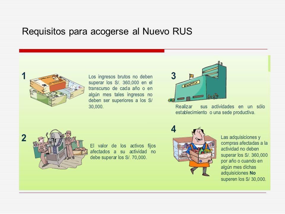 Requisitos para acogerse al Nuevo RUS