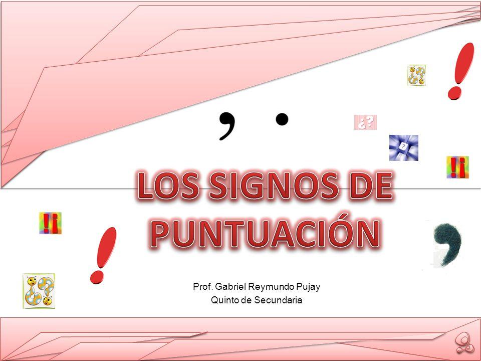 Prof. Gabriel Reymundo Pujay Quinto de Secundaria