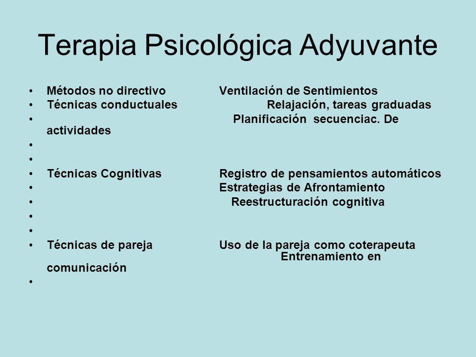 Programas de Intervención Psicológica en Cáncer. Terapia Psicológica Adyuvante (APT), Moorey y Greer en 1989, que es una adaptación de la Terapia Cogn
