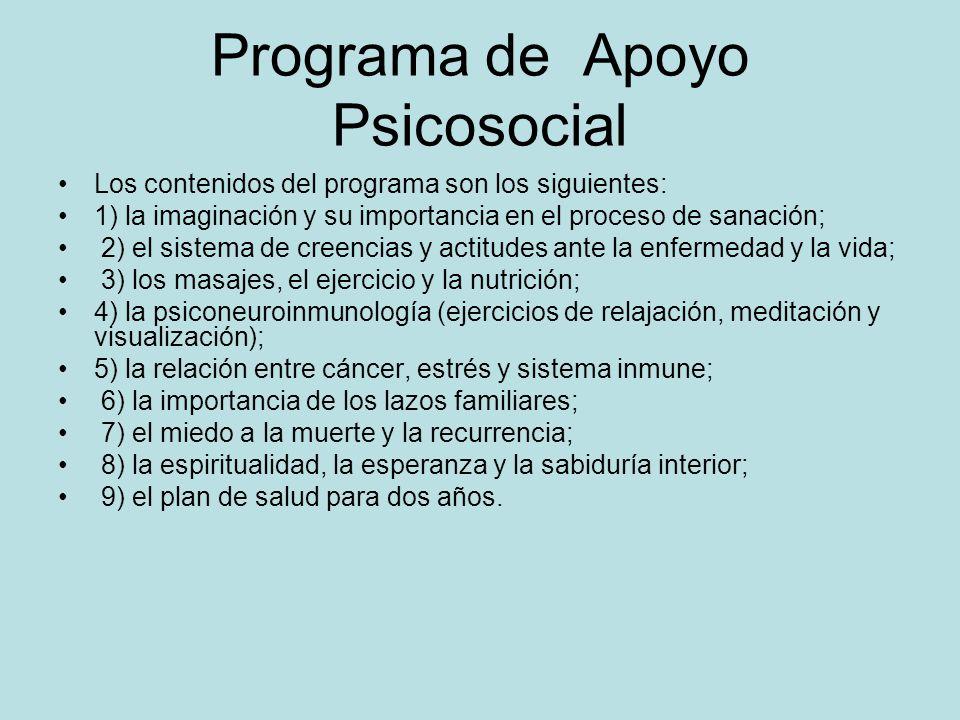 El Programa de Apoyo Psicosocial y Holistico para pacientes con Cáncer, (Fundasinein, Venezuela), Dra. Marianela Castés y el Ps. Pablo Canelones Cuyos